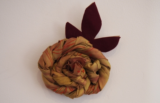 Yellow Flower to Scarf by Bernadette Aitken