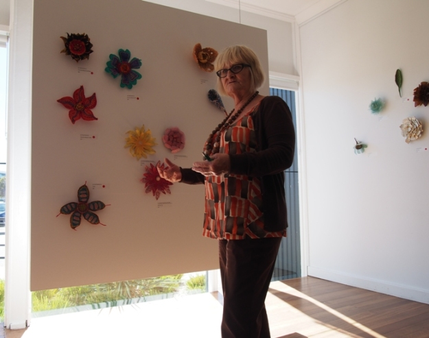 Pauline Miles Discussing the Art Partners Flowers
