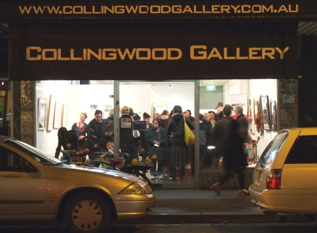 Opening night of the 2013 Rob McNamara Exhibition at the Collingwood Gallery, August 9