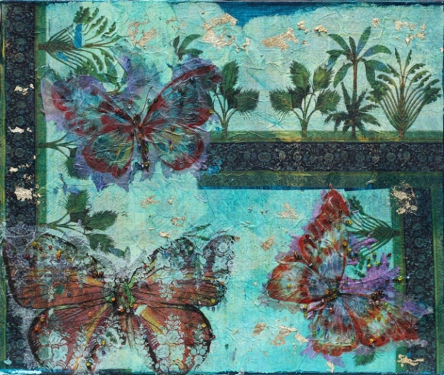 Tropical Morning by Janine Egan which she sold as a result of the exhibition