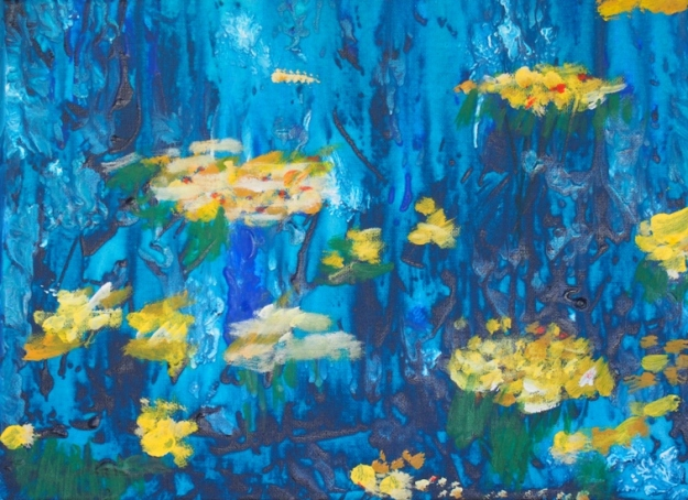 Frogs Jumped on the Lily Pads by Daniel Marinovich.  This work will be exhibited in the As We Are Art Award & Exhibition opening in Perth on November 9