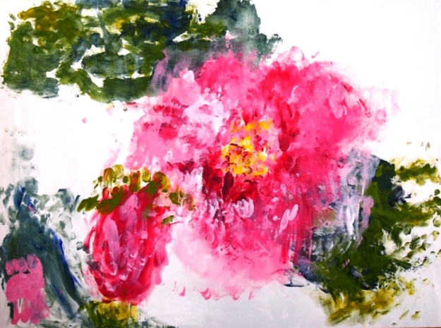 Blossoms in Japan by Roslyn Burns who received an expression of interest from a potential buyer as a result of the exhibition