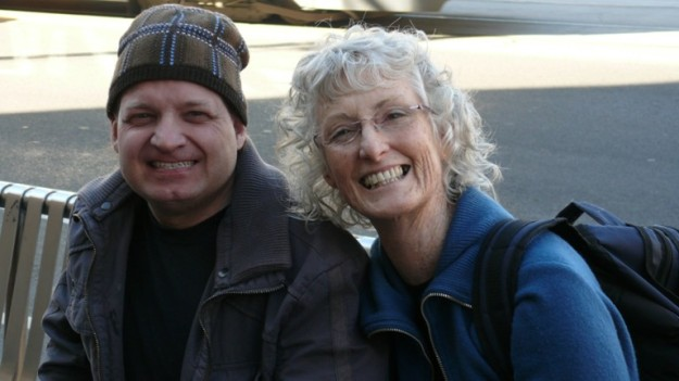 Daniel Marinovich and Helen Seiver say 'Cheese' in Melbourne
