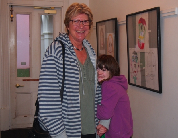 Sherryl Wilson and Emma Matthews at the opening of Mini Me at the Bunbury Regional Art Galleries