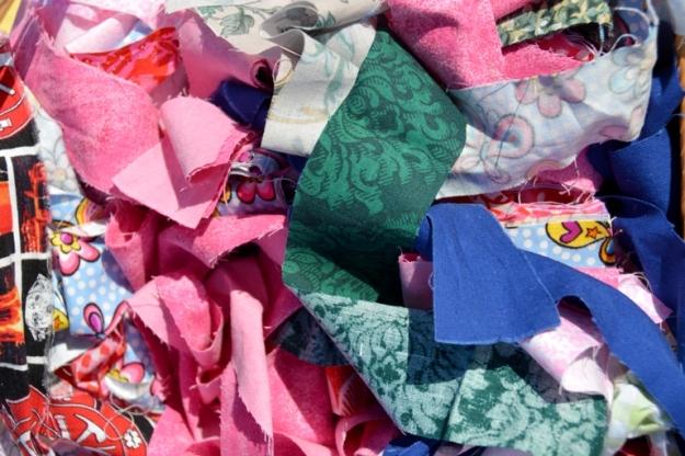 Fabric strips by Ann.  Photo: Carensa Werder