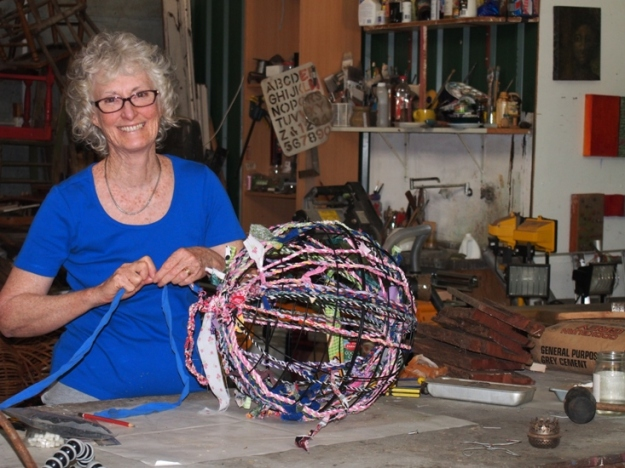 Helen Seiver weaving the twist around the globe