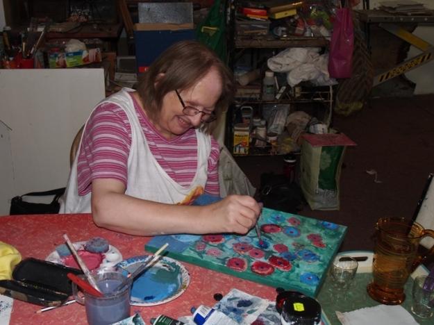 Janine Loves her Paint