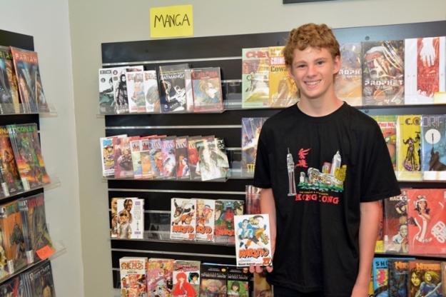 Daniel McLachlan at Hidden Realm Comics and Collectibles, Bunbury. Photo by Carensa Watts