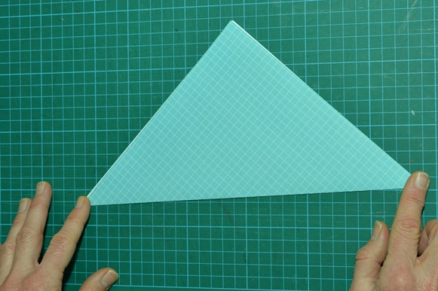 Fold the square paper into a triangle. Photo by Carensa Watts