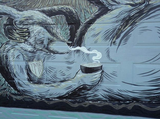 Detail of Andrew Frazer mural. Photo by Sam Everitt