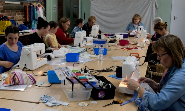 The group of dressmakers on October 11. Photo by Rob Cox